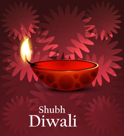 Artistic religious colorful diwali festival background vector Vector