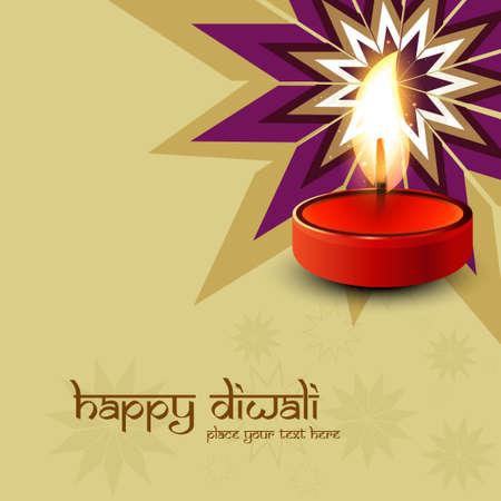illustration of decorated colorful Diwali diya design vector