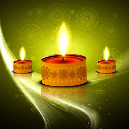 Diwali hindu festival colorful vector design Vector