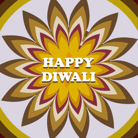 Beautiful card diwali rangoli colorful pattern design vector Stock Vector - 22952626