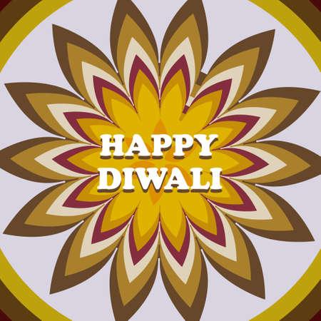 Beautiful card diwali rangoli colorful pattern design vector Illustration