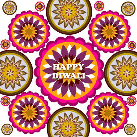 Happy Diwali rangoli Art colorful ornament Pattern vector design