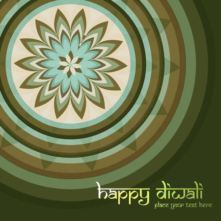 Beautiful Culture Art colorful diwali rangoli ornament Pattern vector Vector