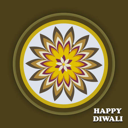 Beautiful creative Art colorful diwali rangoli ornament Pattern background Vector