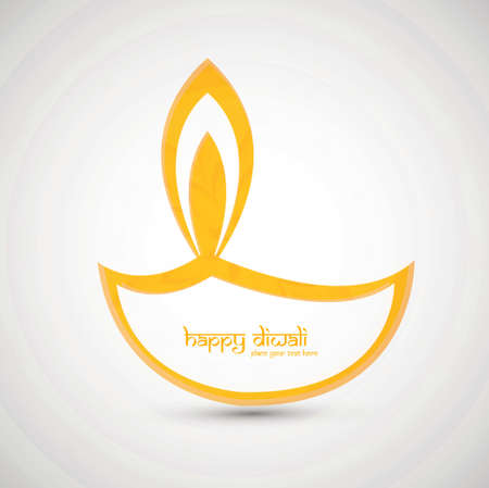 Religious background design for diwali festival  Vector