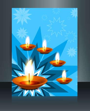 religious celebration: classic colorful brochure template religious celebration illustration