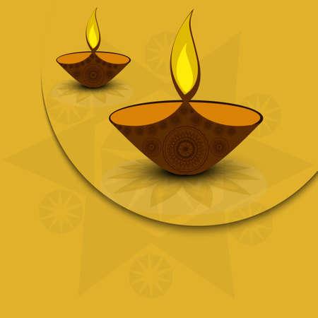 lampa naftowa: artystycznych ilustracji diya na Diwali Wakacje kolorowe Ilustracja