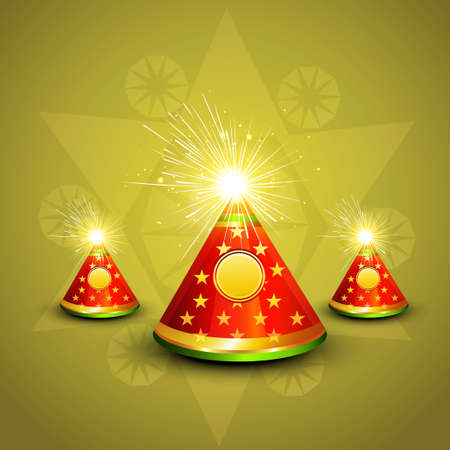 beautiful stylish happy diwali colorful design illustration  Vector
