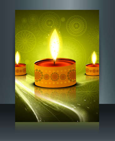 Fantastic background design for diwali festival brochure template Vector