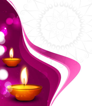 vector beautiful diwali festival colorful wave celebration card background Vector