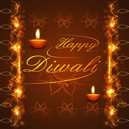 Happy Diwali background festival bright colorful celebration illustration vector Vector