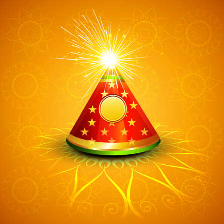 Vector celebration glowing diwali cracker colorful background Vector