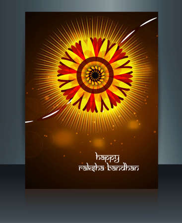 Celebration Raksha Bandhan festival template design Vector