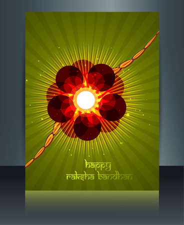 Beutiful template Celebration Raksha Bandhan festival design Vector