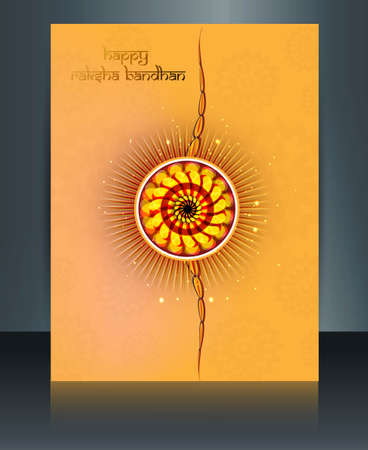 Indian festival Raksha Bandhan brochure template colorful design Vector
