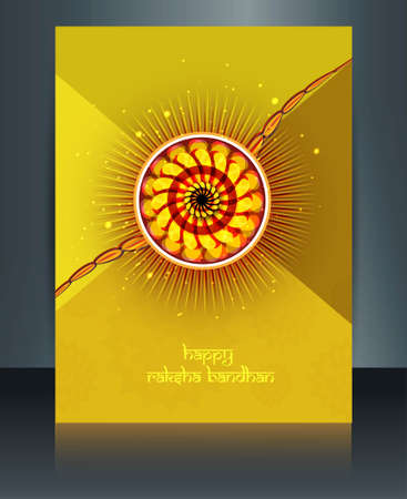 rakshabandhan background template Celebration colorful illustration Vector