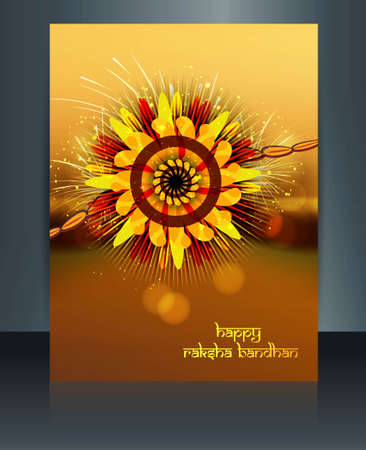 Artistic Celebration Raksha Bandhan festival colorful template illustration Vector