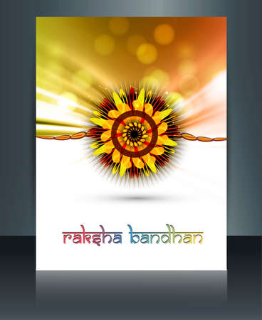 Shiny colorful template festival Raksha Bandhan design Vector