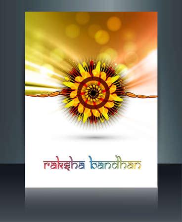 Shiny colorful template festival Raksha Bandhan design Stock Vector - 23519779
