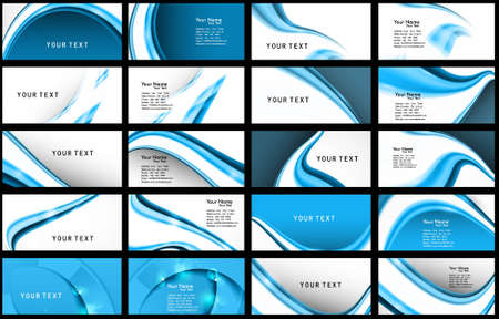name card: abstract Various Business Card set collection illustration