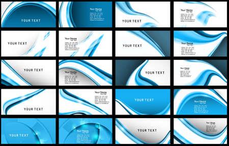 Résumé Divers Business Card collection illustration de jeu