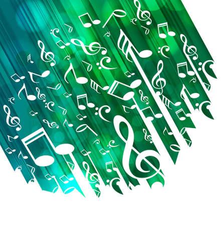 세련된 음악 노트 다채로운 디자인 일러스트 레이션 일러스트
