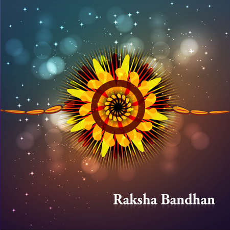 Indian festival bright colorful raksha bandhan  Stock Vector - 23519815