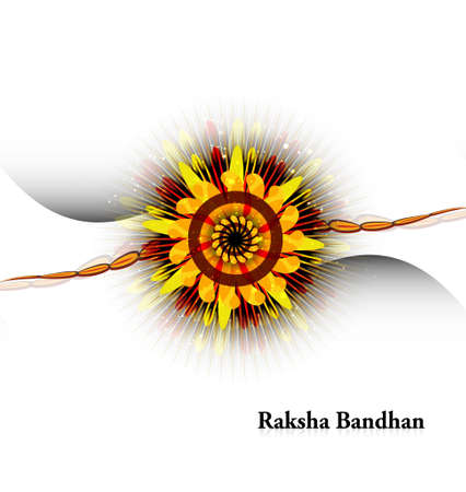 Raksha bandhan shiny beautiful white background Stock Vector - 23519816