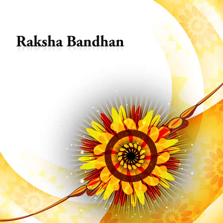Beautiful rakhi card colorful Raksha Bandhan background Stock Vector - 23519818