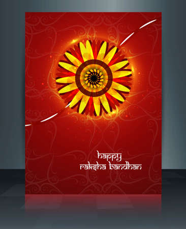 Raksha Bandhan brochure reflection template design Vector