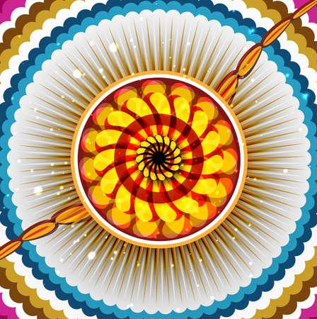 Beautiful celebration Raksha bandhan colorful design Stock Vector - 23519824