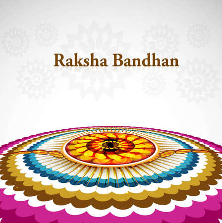 asian and indian ethnicities: Artistic raksha bandhan beautiful  design
