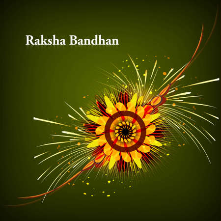 Raksha Bandhan for rakhi artistic beautiful celebration Stock Vector - 23519827