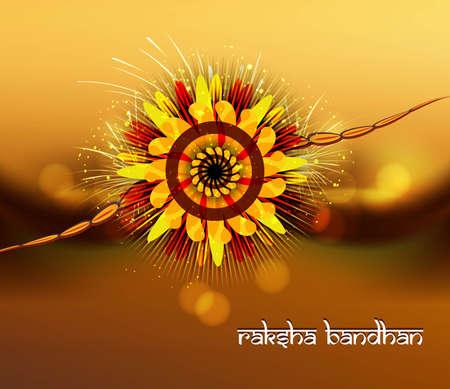 bahan: Beautiful rakhi for raksha bandhan bright colorful celebration  Illustration