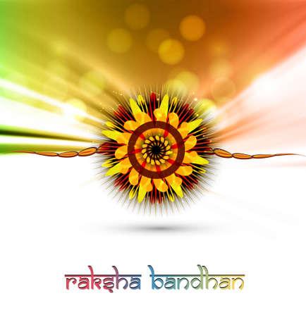bahan:  Raksha Bandhan artistic colorful card background Illustration