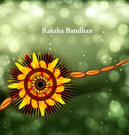 raksha: Raksha bandhan celebration bright colorful background illustration