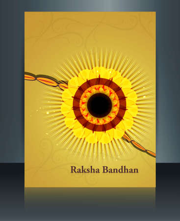 Reflection template Celebration Raksha Bandhan festival design  Vector