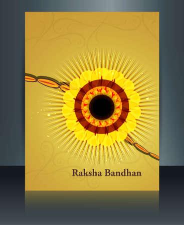 raksha: Reflection template Celebration Raksha Bandhan festival design