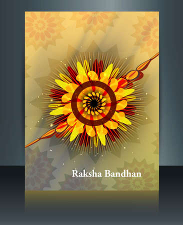 raksha: illustration template brochure Raksha Bandhan festival design