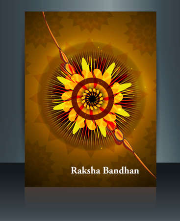 Festival Raksha Bandhan template brochure colorful design Vector