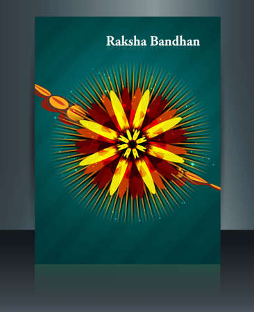 Stylish Raksha Bandhan festival colorful brochure template  Stock Vector - 23519844