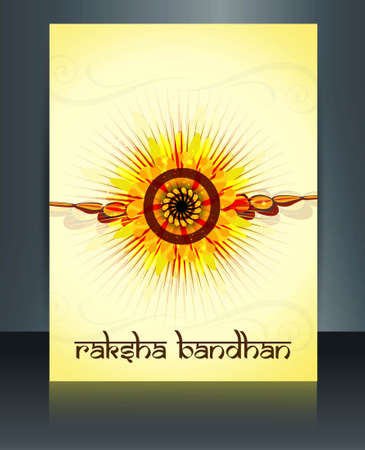 Raksha Bandhan festival  brochure reflection template design Vector
