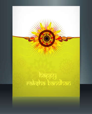 Shiny template celebration Raksha Bandhan festival colorful background Vector