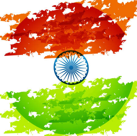 grunge indian flag tricolor stylish vector design Vector