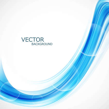 abstract blue colorful smooth lines wave vector background illustration Vector