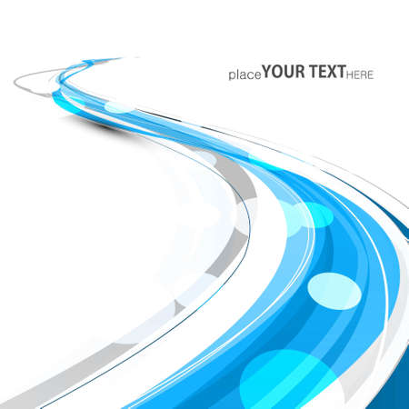 technologie: abstract bright blue colorful line stylish wave technology white background