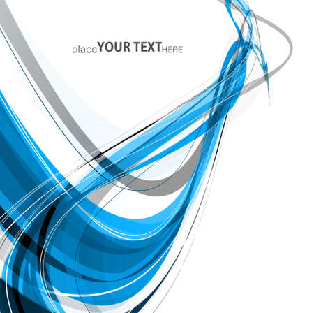 technologie: abstract blue colorful stylish wave technology background vector illustration