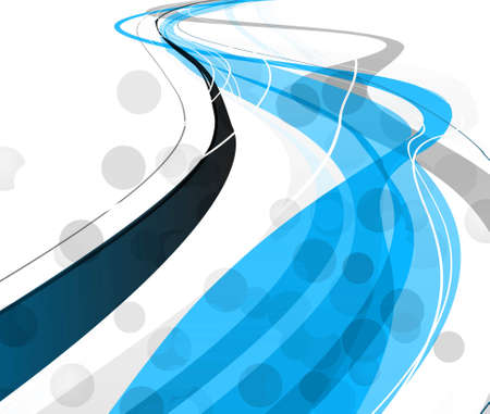 technologie: abstract bright blue colorful line stylish wave background