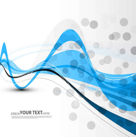 technologie: abstract bright blue colorful line wave circle technology background Illustration