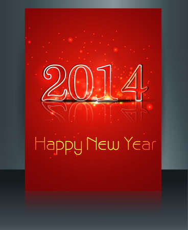 brochure beautiful template new year 2014 reflection